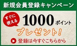 新規会員登録で1000ポイントプレゼントキャンペーン