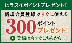 新規会員登録で300ポイントプレゼントキャンペーン