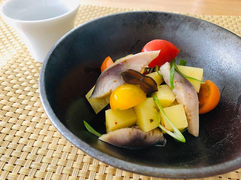 おもてなしにもぴったり!侍のりで作る鯖のポテトサラダのレシピ