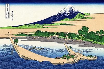東海道江尻田子の浦略図(とうかいどうえじりたごのうらりゃくず)