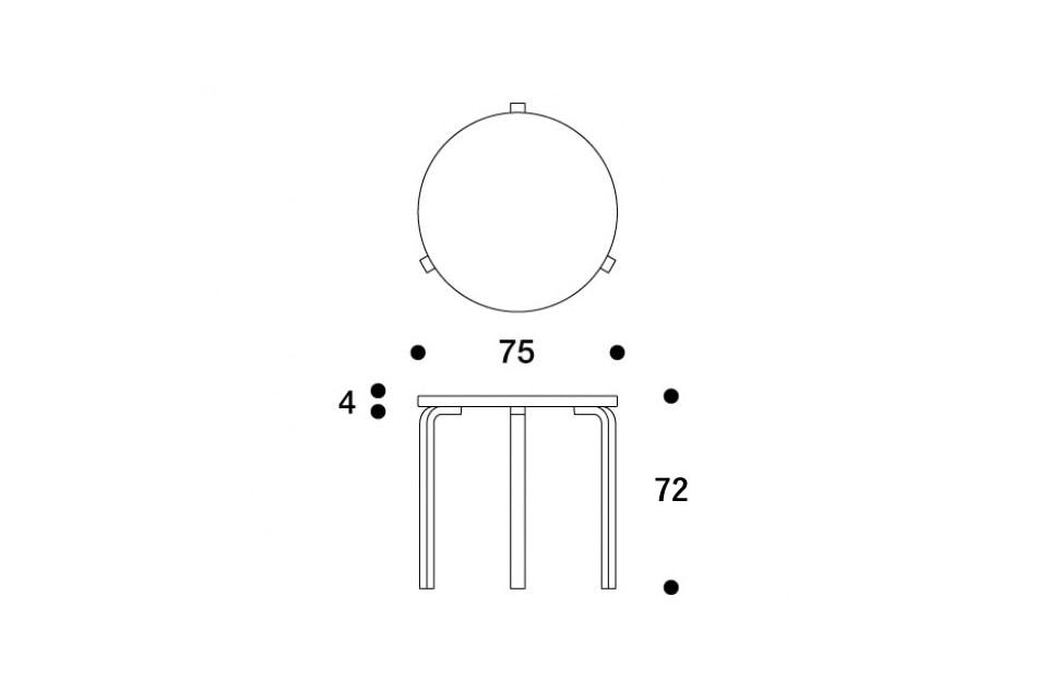 90B TABLE/Artek(90B テーブル/アルテック)