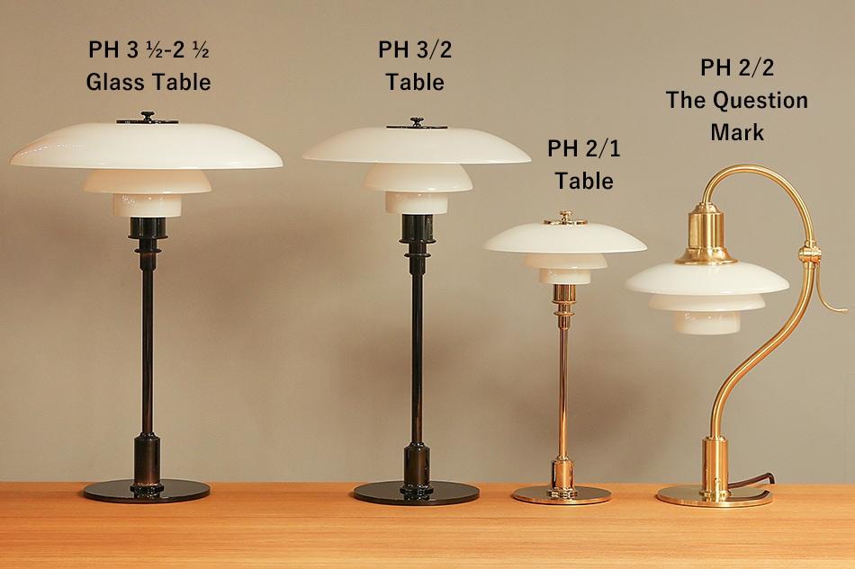 PH 2/1 琥珀色ガラス テーブルランプ / Louis Poulsen(ルイス ポールセン)