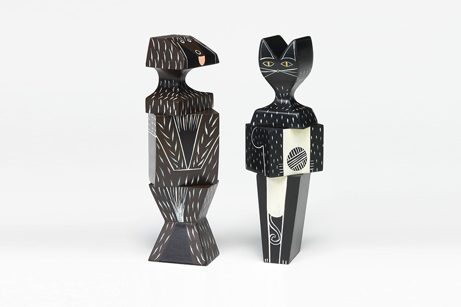 Wooden Dolls Dog&Cat/Vitra(ウッデンドール ドッグ&キャット/ヴィトラ)