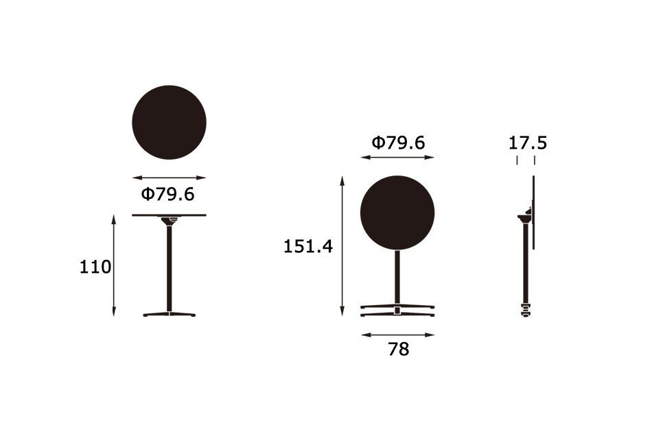 Super Fold Table High/Vitra(スーパー フォールド テーブル ハイ/ヴィトラ)