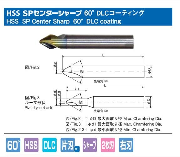 HSS SP センターシャープ 60° DLCコーティング