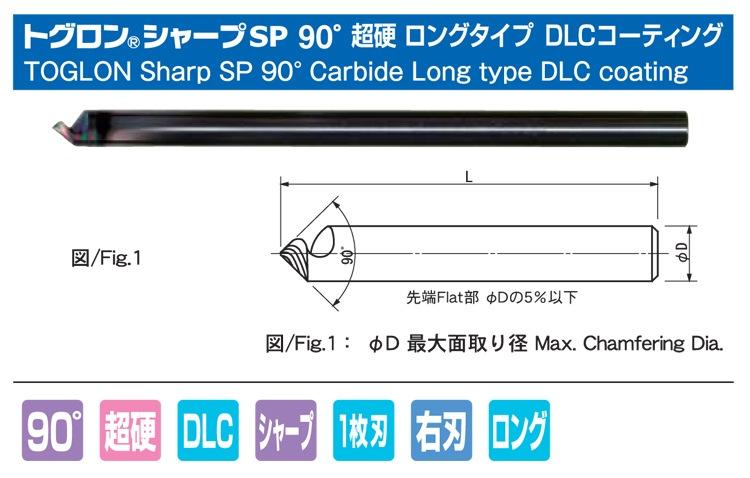 トグロンシャープSP60°超硬ロングDLC