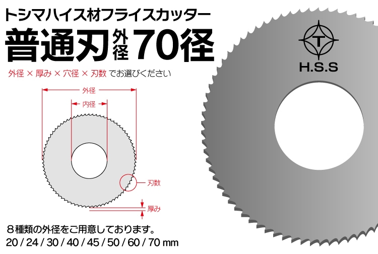トシマハイス材フライスカッター70径