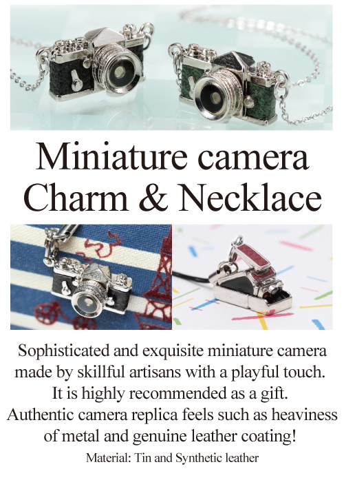Miniature camera Charm & Necklace