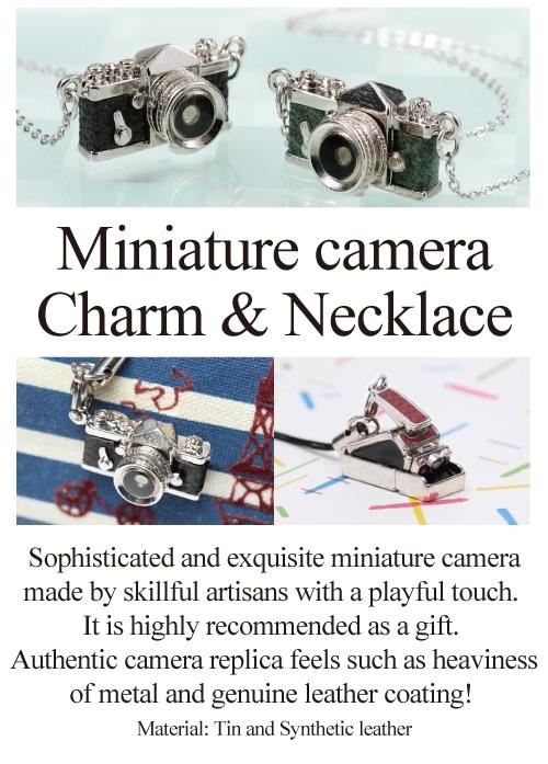 Miniature camera Charm & Necklace