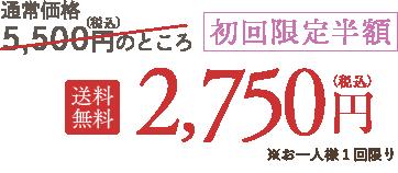 初回限定半額 送料無料 2,750円(税込)