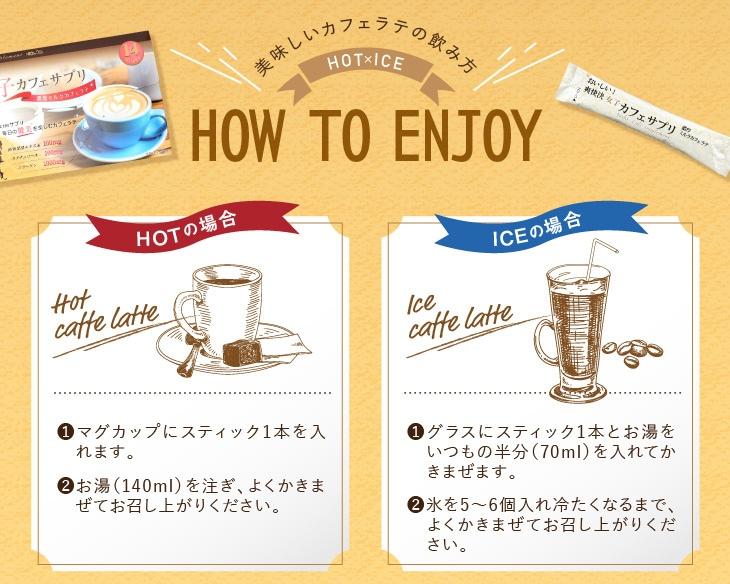 美味しいカフェラテの飲み方