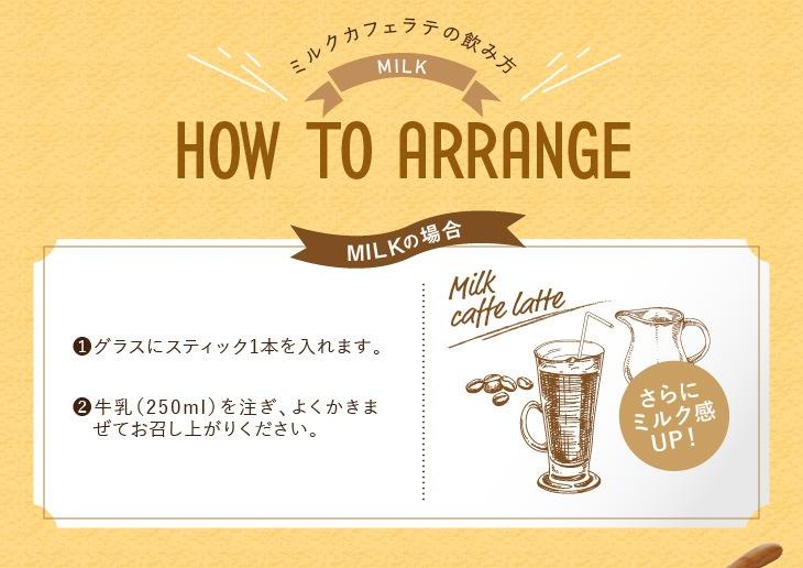 ミルクカフェラテの飲み方