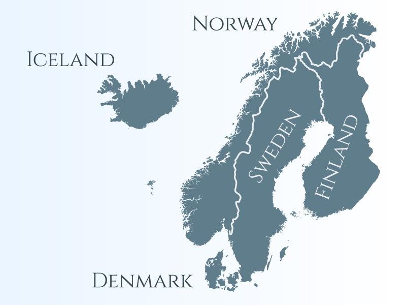 イラスト:北欧マップ