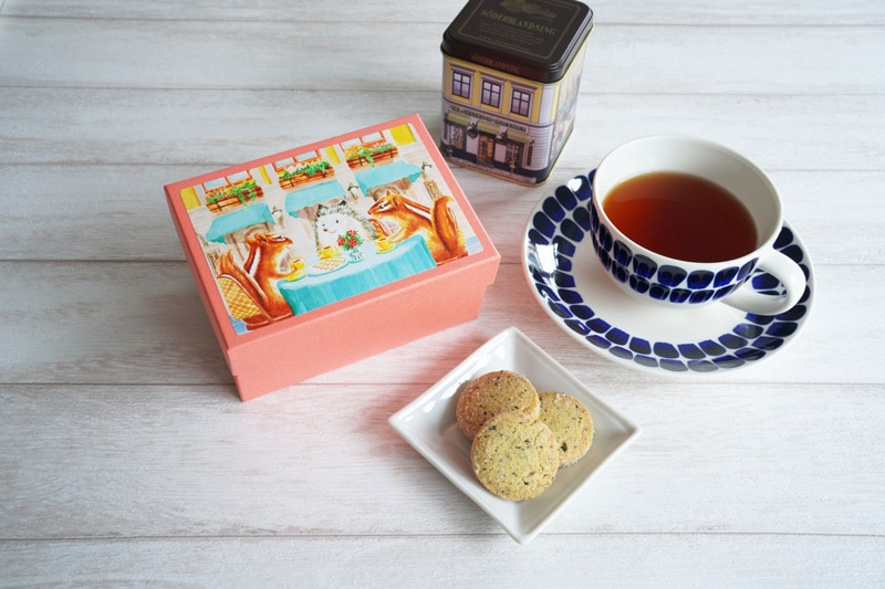 写真:西光亭 北欧紅茶のクッキーと北欧紅茶