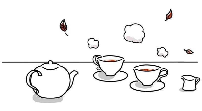 写真:あめ色に入れられた紅茶