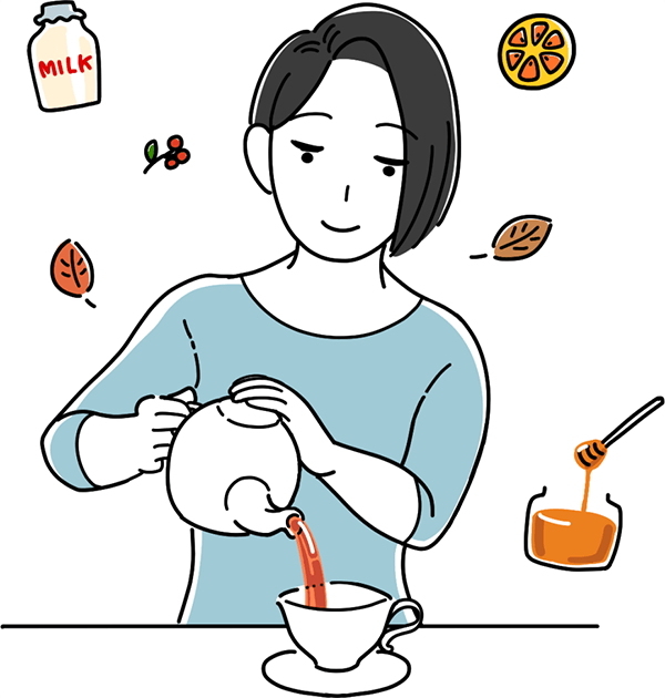美味しい紅茶の入れ方のイラスト
