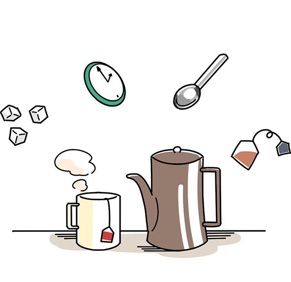 紅茶の基本・北欧紅茶とは?のイラスト