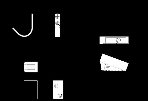 木製ロフトはしご北欧ラダー(北欧パイン)用金具セット一覧