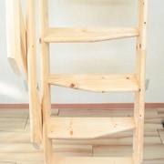 北欧産デザインステップ木製ロフト階段はデザイン重視