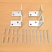 北欧産ワイドステップ木製ロフト階段の金具一覧