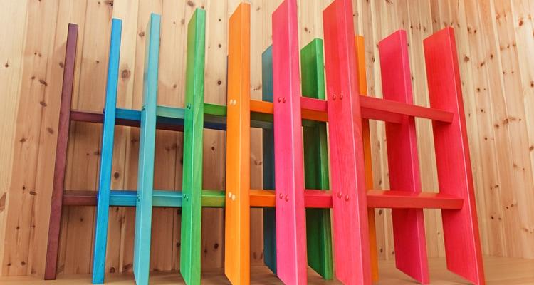 木製ロフトはしごカスタムラダーのカラーサンプル
