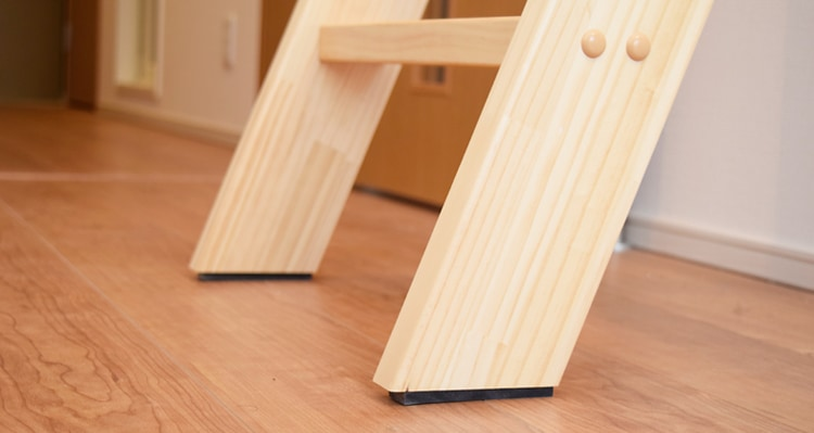 木製ロフトはしごカスタムラダーのゴム足(滑り止め)