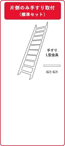 木製ロフト階段(片側手すり・付属品同梱)購入の場合