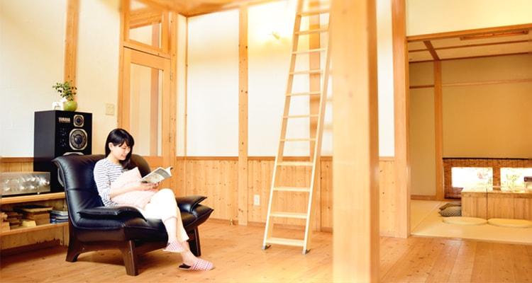 木製ロフトはしごセーフティーラダー・生活の中心に安心があること