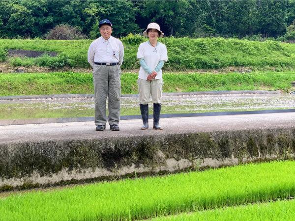 山田錦の米粉で。