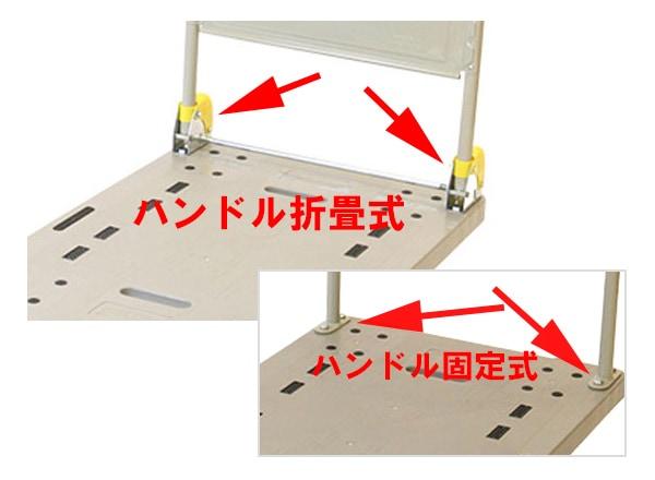 ハンドル折畳式か固定式を選ぶ