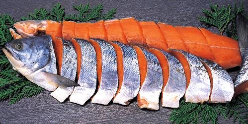 特上新巻鮭姿切身