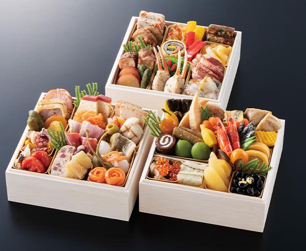 阪急交通社のおせち 宝塚ホテル 和洋中おせち料理「彩」