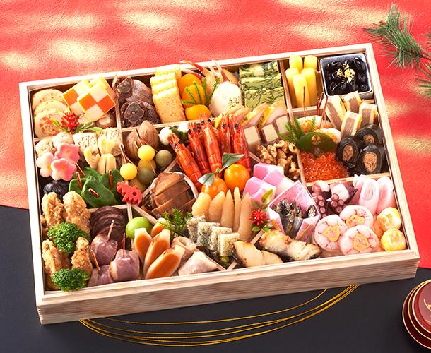 阪急交通社のおせち 日本料理てら岡監修 特大重「一段重」