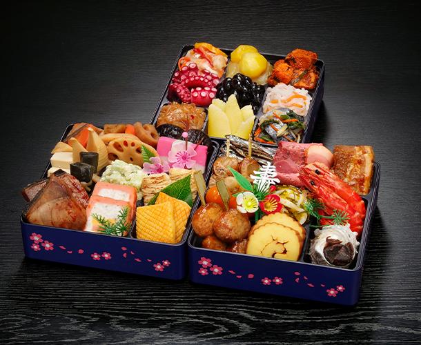 阪急交通社のおせち 玉清 生おせち「迎春」和洋中三段重