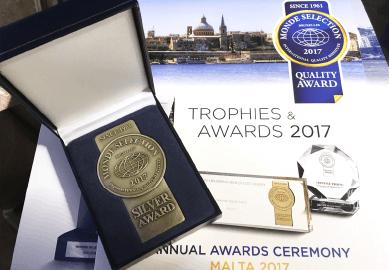 2017年5月 マルタ共和国にて行われた授賞式