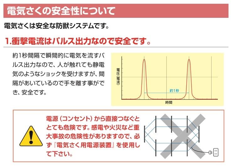 衝撃電流はパルス出力なので安全です。