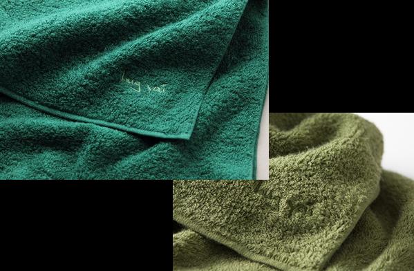 タオルの刺繍