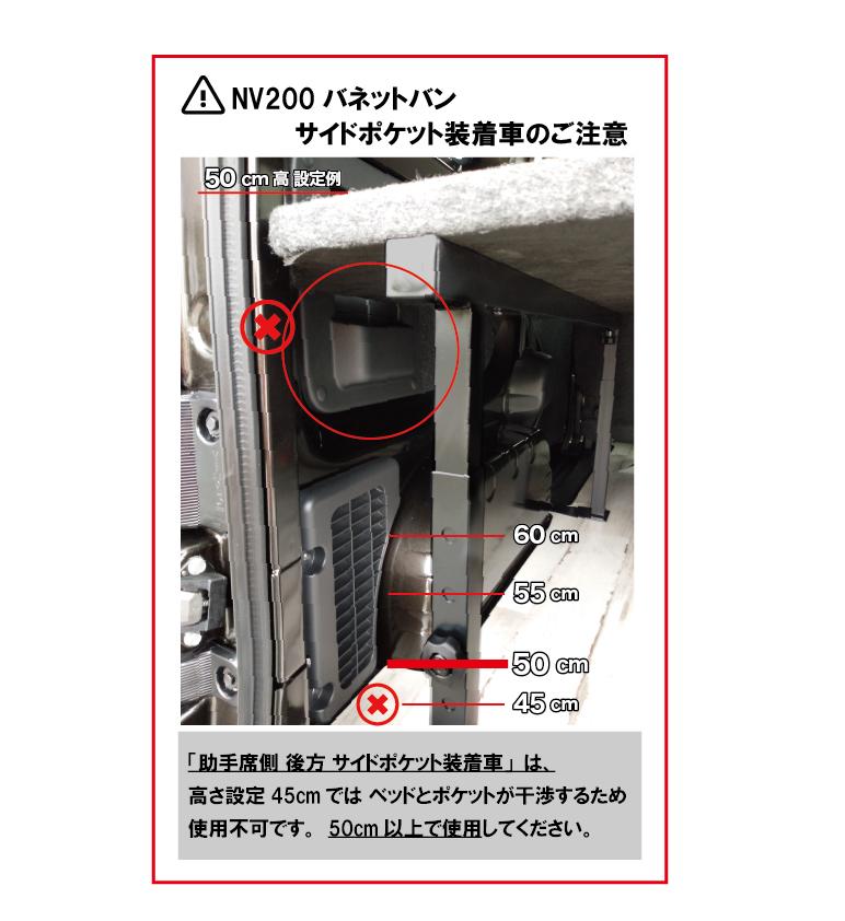 NV200ベッドキット