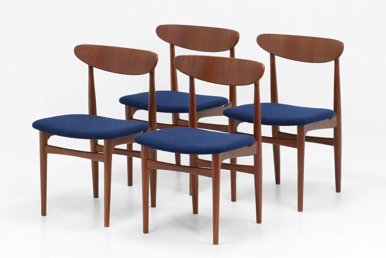 北欧,デザイン,家具,クロッケン,チーク材,ダイニングチェア,4脚,セット