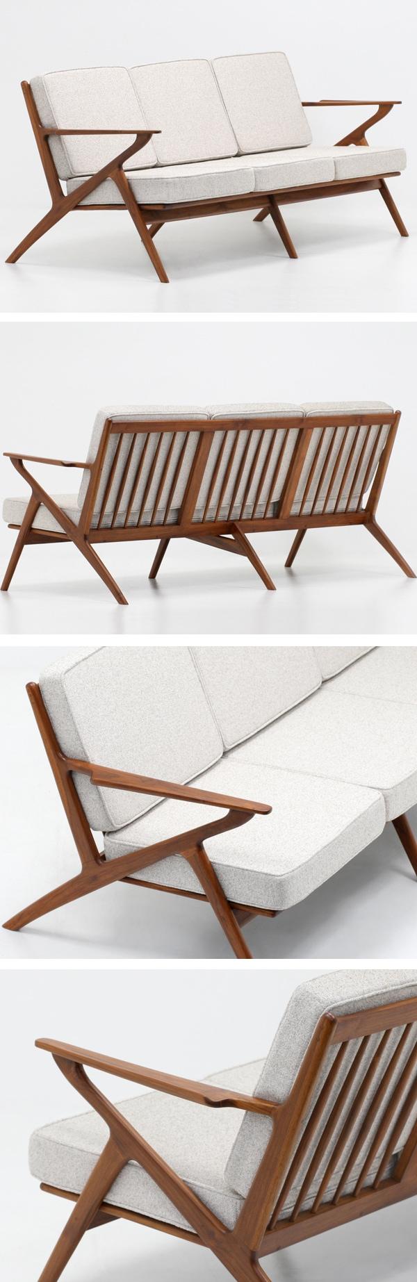北欧デザイン家具,Klokken,クロッケン,チーク材,3人掛けソファ,ベージュ