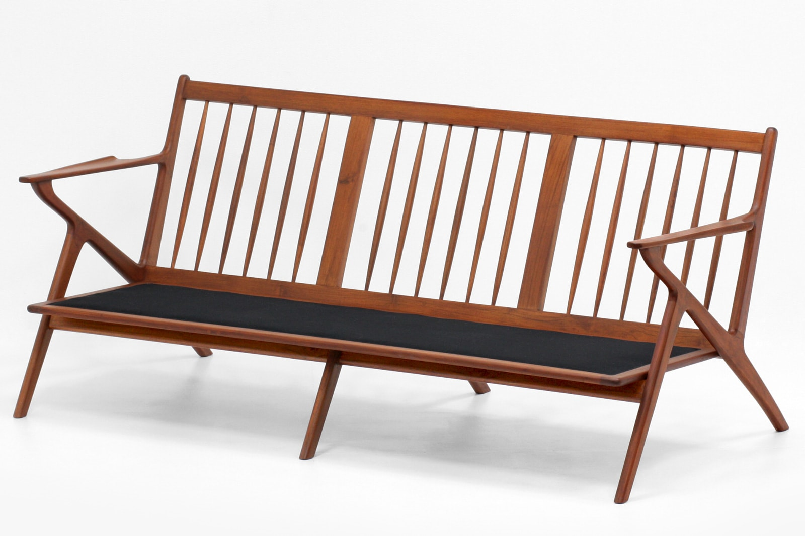 北欧,デザイン,家具,クロッケン,チーク材,ソファ,3人掛け,ネイビー