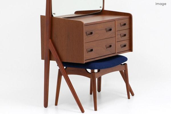 北欧,デザイン家具,Klokken,クロッケン,チーク材,ドレッサー,ミラー,ミッドセンチュリー