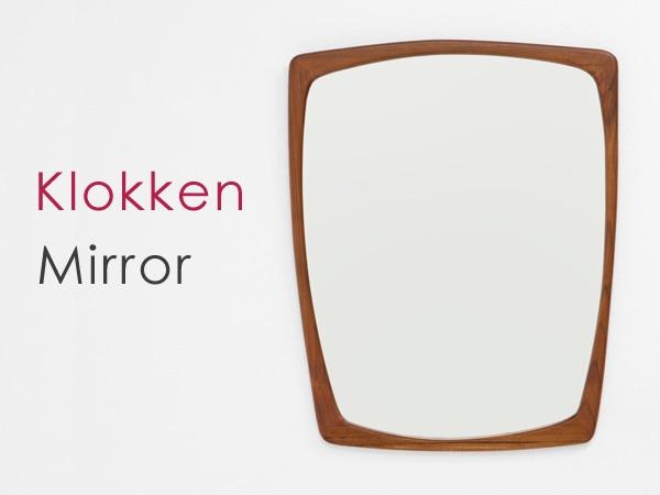北欧デザイン家具,Klokken(クロッケン),チーク材,壁掛けミラー,鏡