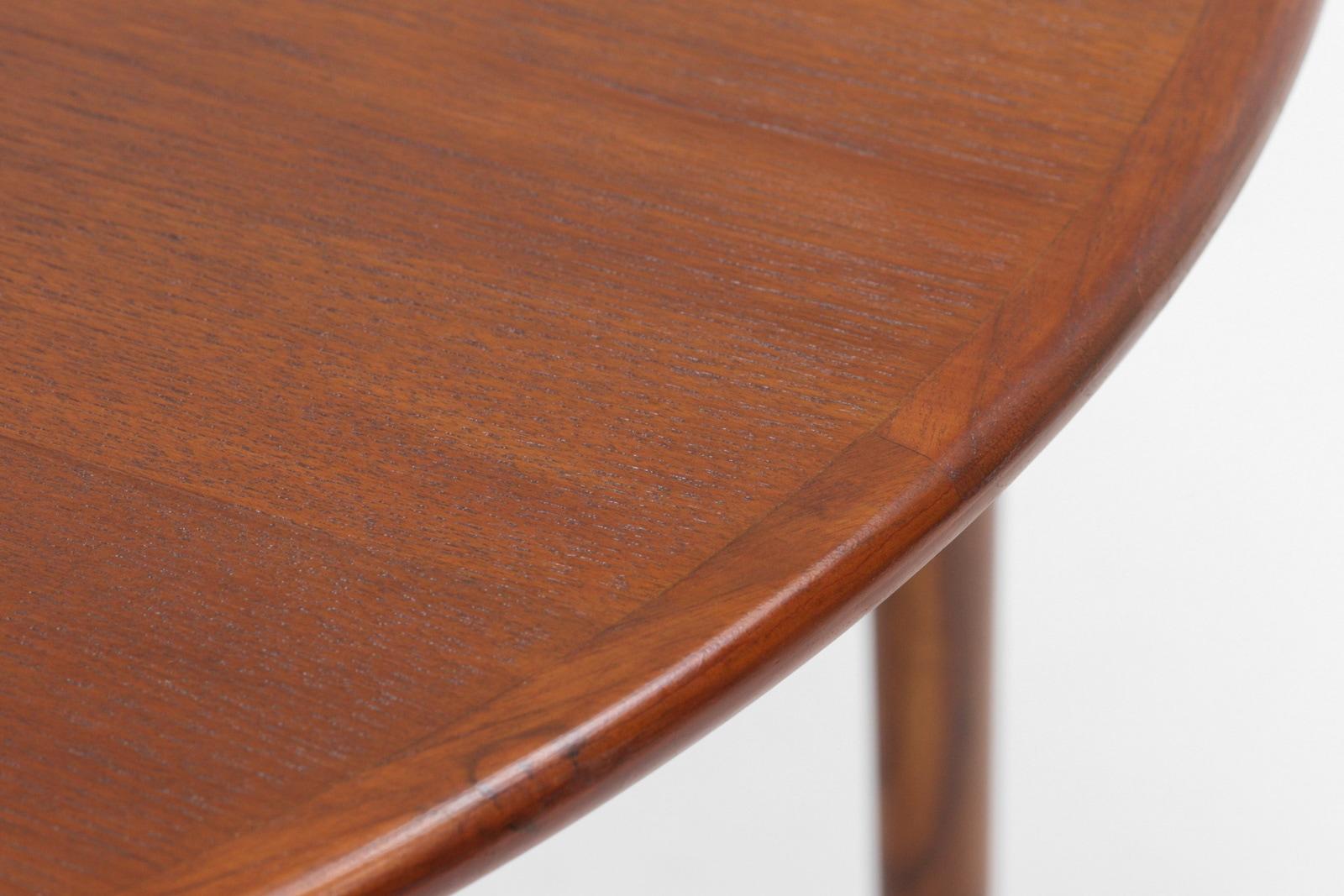 ダイニングテーブル,丸,北欧,デンマーク, 家具,クロッケン,チーク材