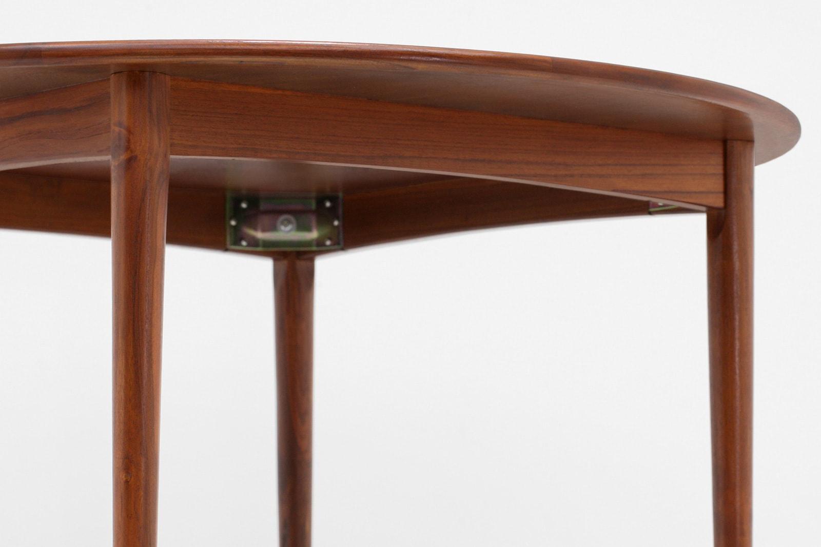 ダイニングテーブル,円形,北欧,デンマーク, 家具,クロッケン,チーク材