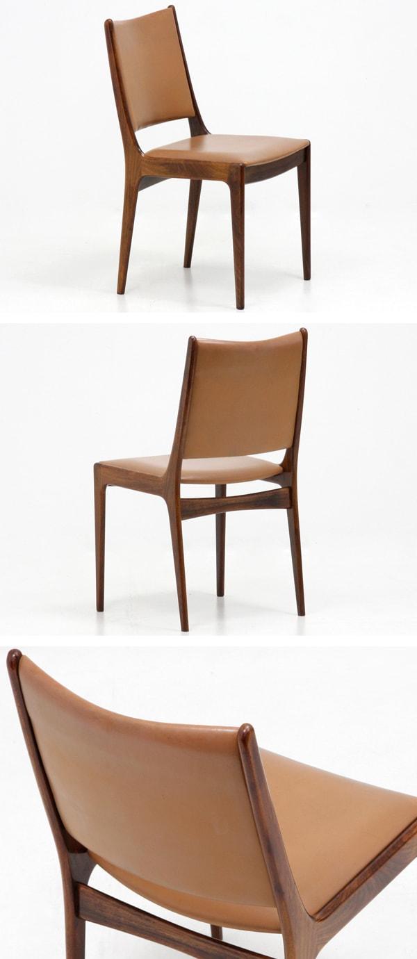 北欧,デンマーク,家具,ヨハネスアンダーセン,本革,チェア,2脚セット
