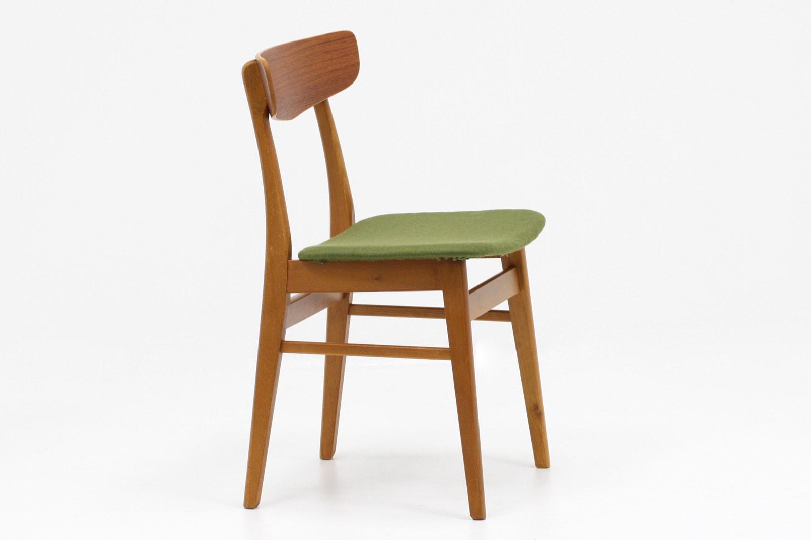 ヴィンテージ,北欧,椅子,緑,座面