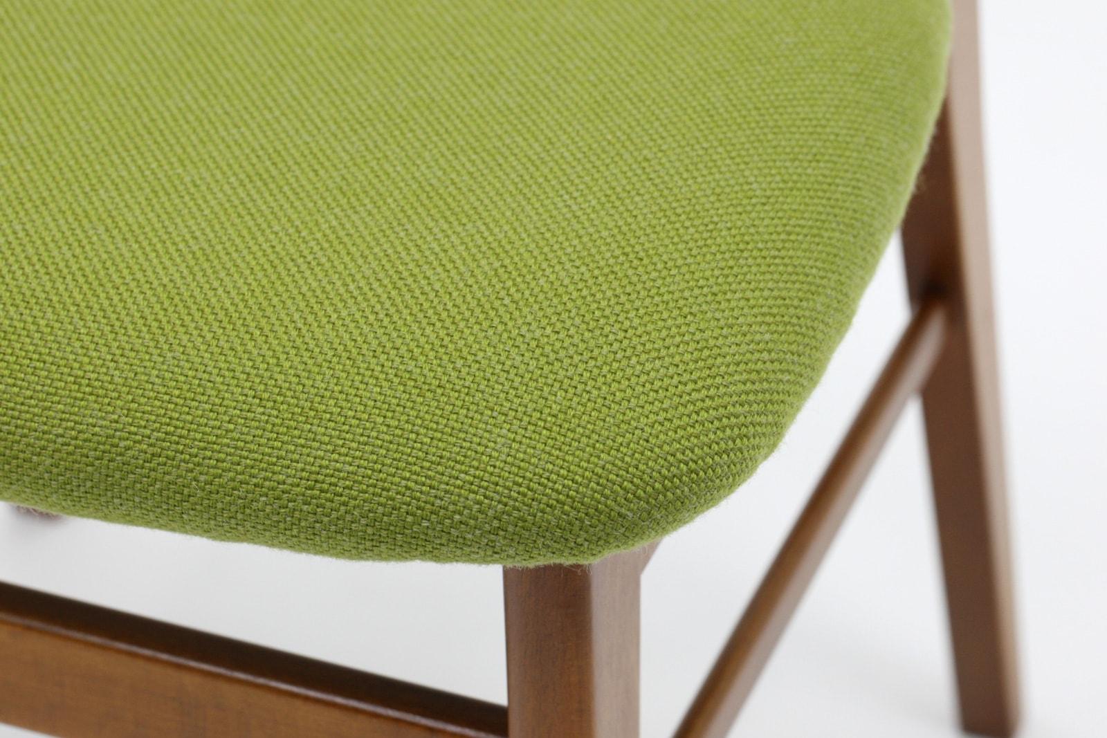 ヴィンテージ,北欧,家具,ダイニングチェア,4脚セット,緑の座面
