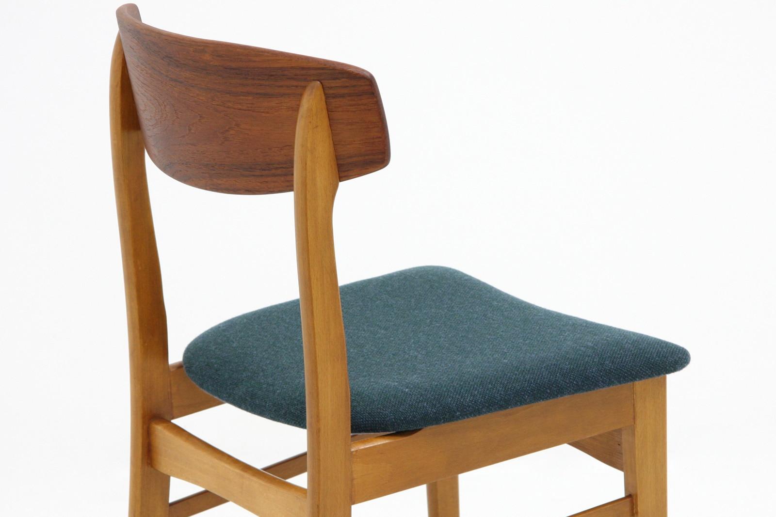 北欧,椅子,ダイニングチェア,ブルーグリーン,ヴィンテージ