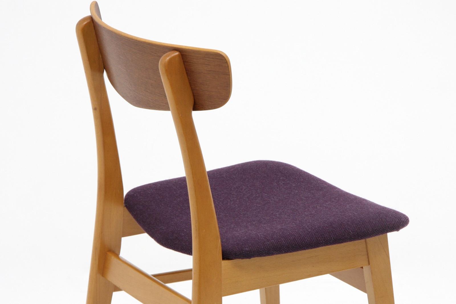 北欧,ダイニングチェア,紫,デンマーク,椅子